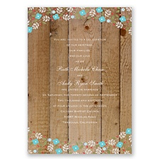 Rustic Posies - Pool - Invitation