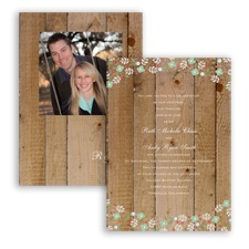 Rustic Posies - Meadow - Invitation