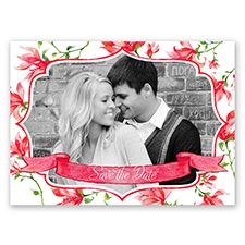 Romantic Wildflowers - Apple - Save the Date Postcard