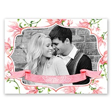 Romantic Wildflowers - Coral Reef - Save the Date Postcard