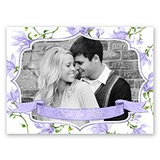 Romantic Wildflowers - Lapis - Save the Date Postcard