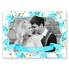 Romantic Wildflowers - Malibu - Save the Date Postcard