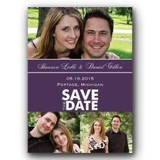 Color Block Photo - Lapis - Save the Date Magnet