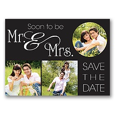 Mr. & Mrs. Photo - Save the Date Postcard