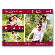 Color Bands Photo - Apple - Save the Date Postcard