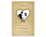 Burlap Heart Photo - Program