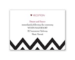 Chevron Sweethearts - Reception Card
