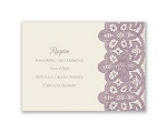 Wrapped In Lace - Reception Card