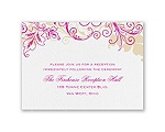 Flourish with Golden Shadow - Reception Card