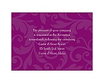 Treasured Jewels Pattern - Sangria - Reception Card
