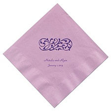 Pastel Purple Cocktail Napkin