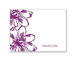Plumeria Fantasy - Thank You Card and Envelope