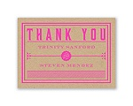 Bold Love - Thank You Card and Envelope