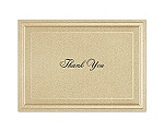 Gold Shimmer Border - Thank You Card and Envelope