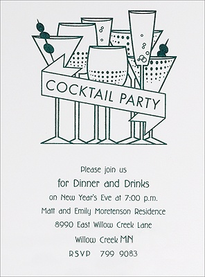 cocktail party invitations wording