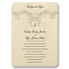 Baroque Elements Wedding Invitation
