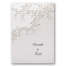 Lavish Lace Wedding Invitation