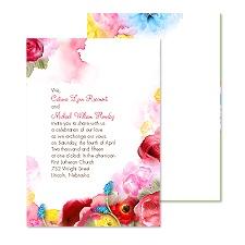 Bright Blossoms Wedding Invitation