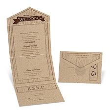 Natural Appeal Seal and Send Wedding Invitation
