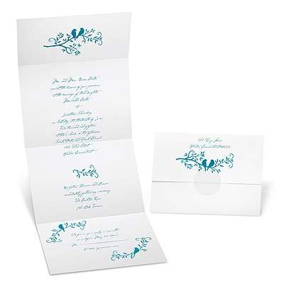 Lovebirds Seal and Send Wedding Invitation