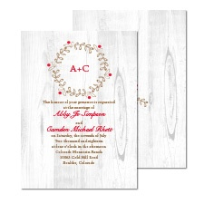 Rustic Charm Wedding Invitation
