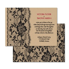 Lace Band Wedding Invitation