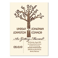 Natural Charm Wedding Invitation - Ecru
