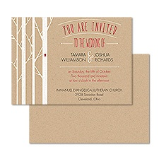 Naturally Romantic Wedding Invitation