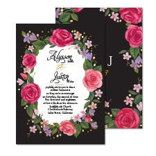 Just Rosy Foil Wedding Invitation