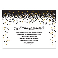 Sparkling Confetti Foil Wedding Invitation