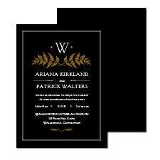 Classic Appeal Foil Wedding Invitation