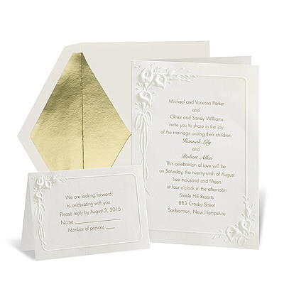 New wedding invitations for you: Embossed calla lily ...
