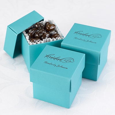 Wedding Favor Tags Michaels : Home ? Reception ? Personalized Favors ? Teal Lidded Favor Boxes