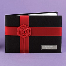 Red Rose Guest Book
