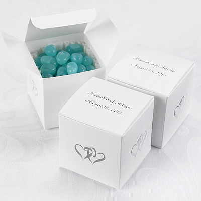 Home ? Personalized Wedding Accessories ? Favor Boxes ? Two Hearts ...