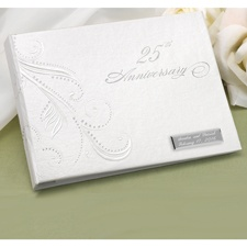 Dotted Flourish Guest Book - 25th Anniversary