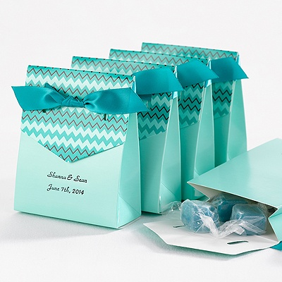 Bright Chevron Favor Boxes Teal Wedding Favor Boxes at Michaels ...