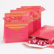 Bright Chevron Favor Boxes - Fuchsia