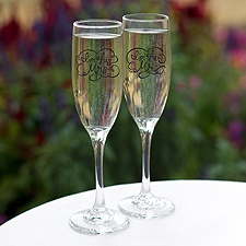 His and Hers Toasting Flutes