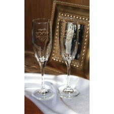 50th Anniversary Filigree Toasting Flutes