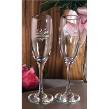 25th Anniversary Filigree Toasting Flutes