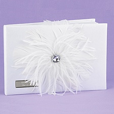 Fancy Feather Guest Book
