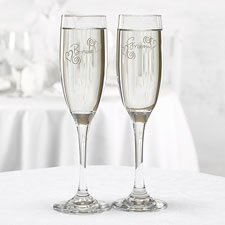 Whimsical Heart Toasting Flutes