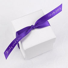 Personalized Purple Satin Favor Ribbon