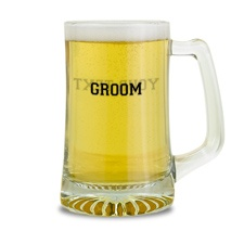 Groom Glass Mug