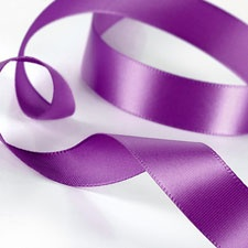 Purple Satin Ribbon