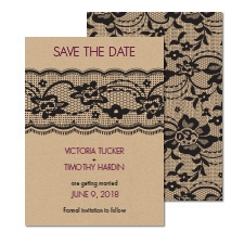 Lace Band Save the Date