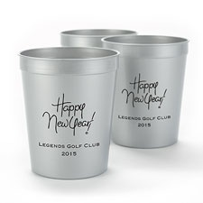Metallic Silver Personalized Cup