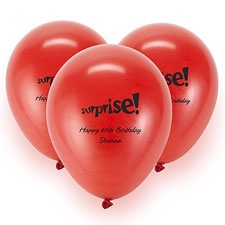 Red Custom Balloon