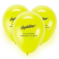 Yellow Custom Balloon